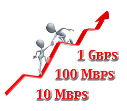 Business bandwidth for 10 Mbps, 100 Mbps and 1000 Mbps at attractive prices.